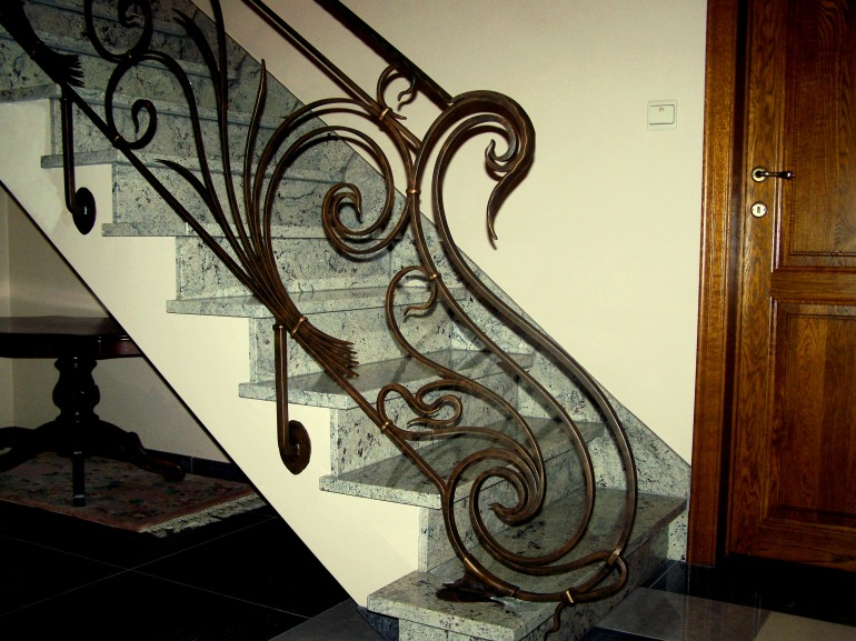 Trapleuning smeedijzer Art Nouveau