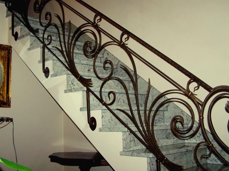 leuning in smeedijzer Art Nouveau