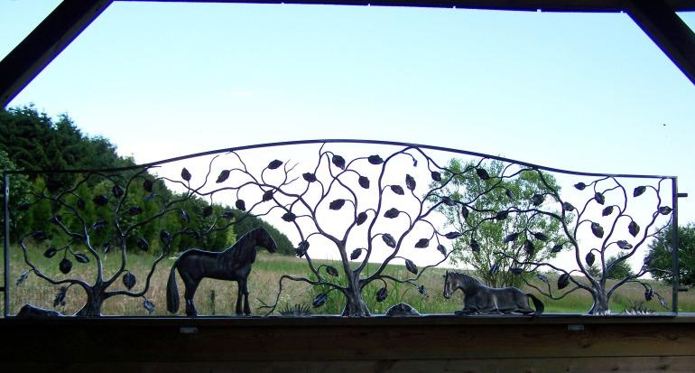 Kunstsmeedwerk paard