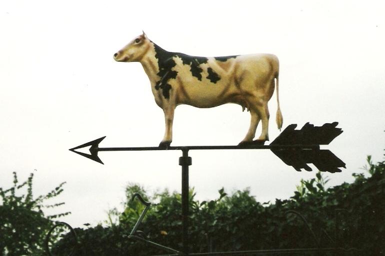 girouette avec vache