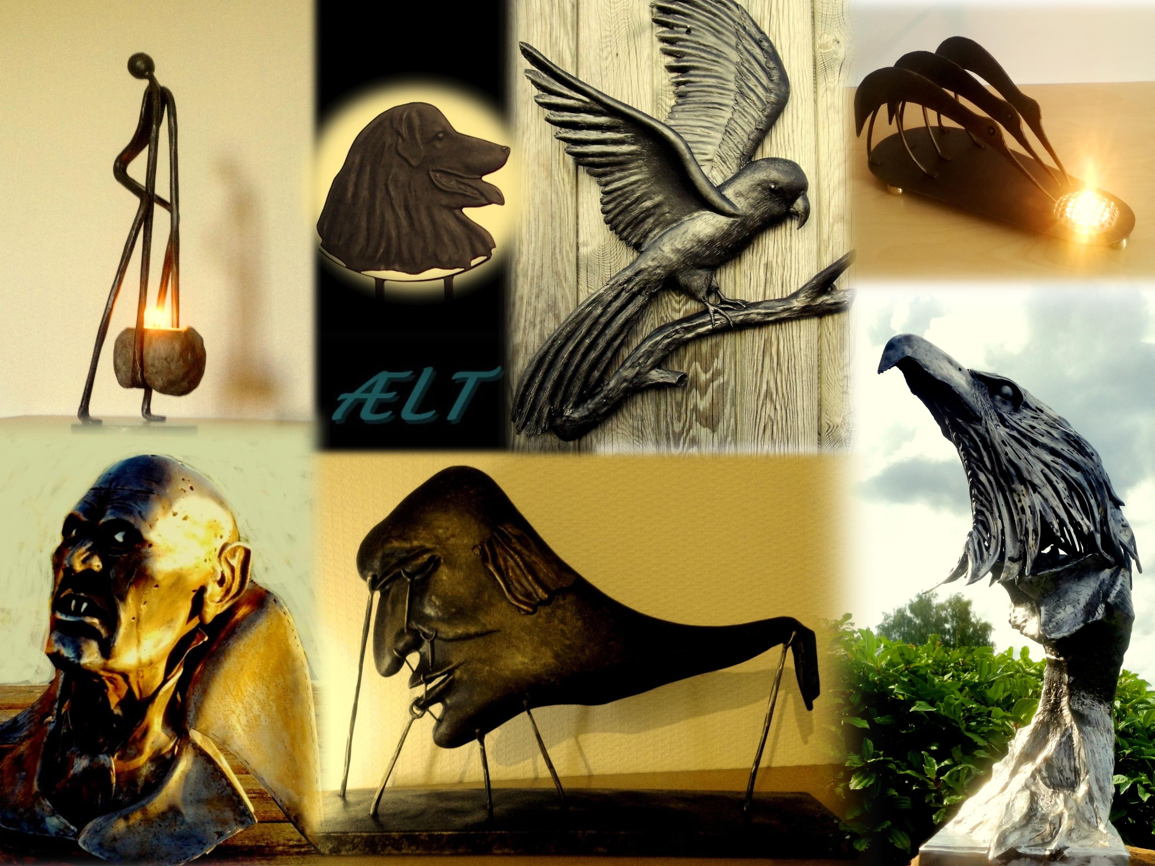 Smeedijzeren sculpturen, tuinbeelden, wandsculpturen, kunstwerken