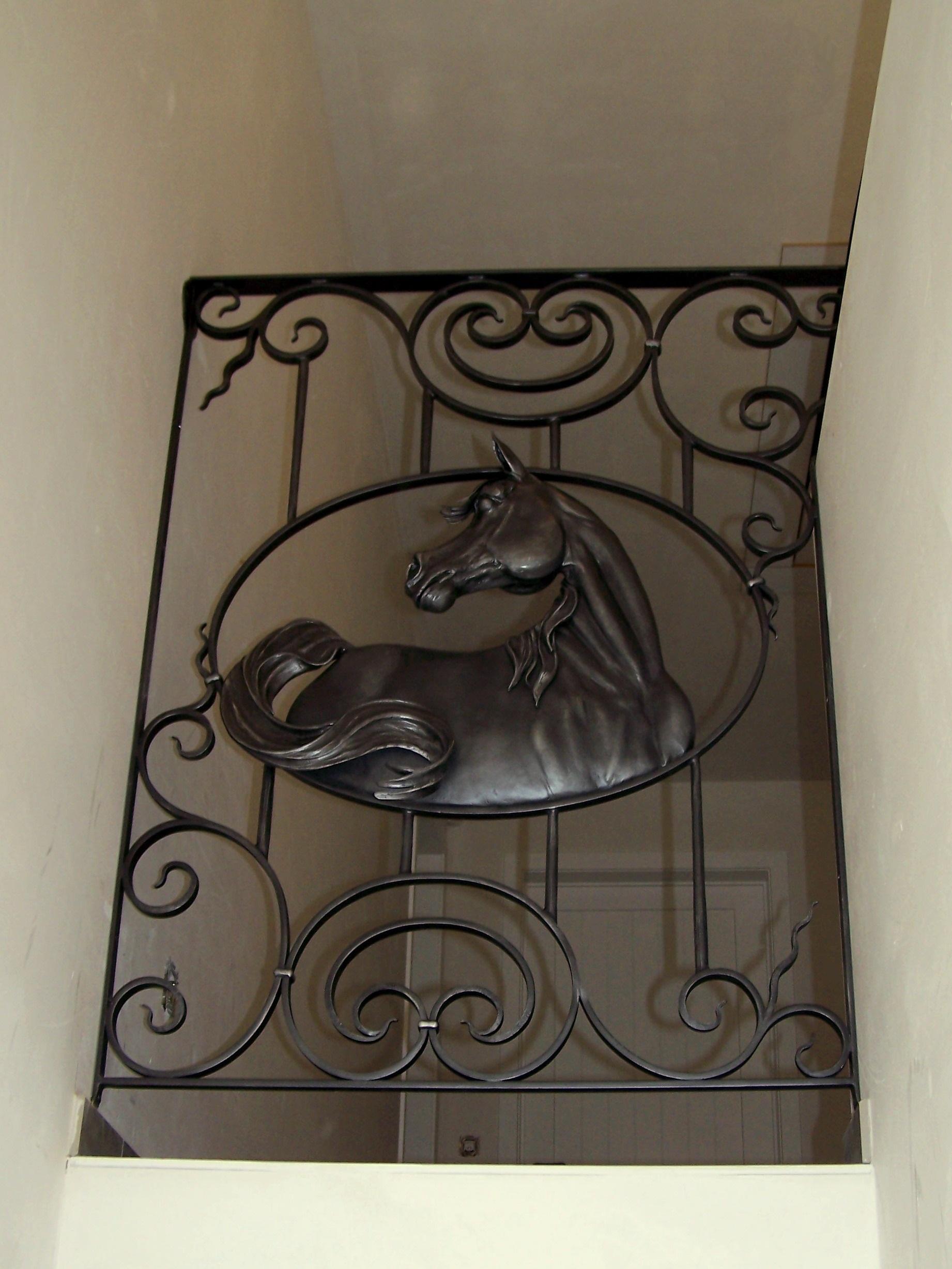 Arabian horse, metaalsculptuur, kunstsmeedwerk,
