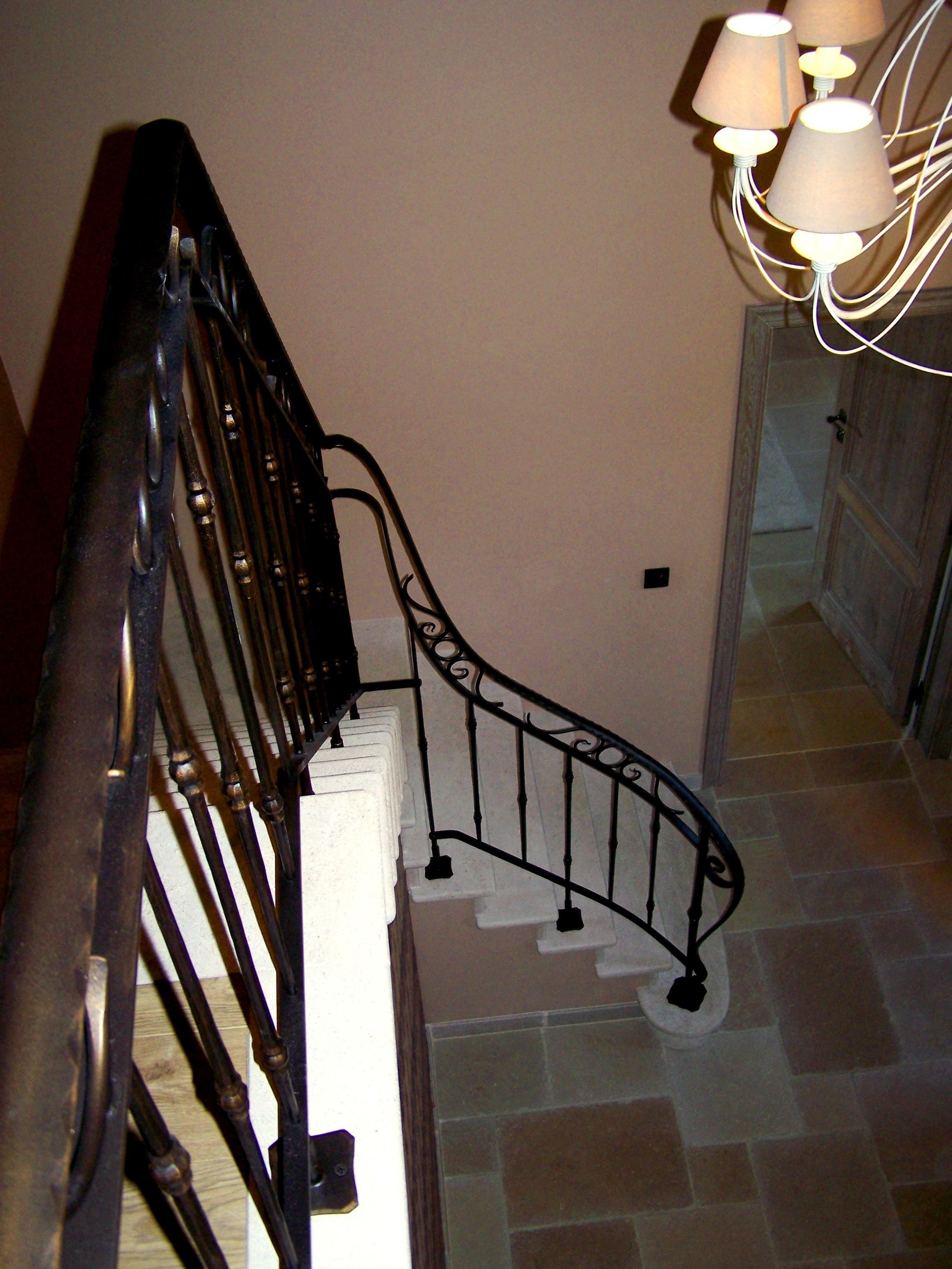 fer forgé, rampe d'escalier, garde-corps
